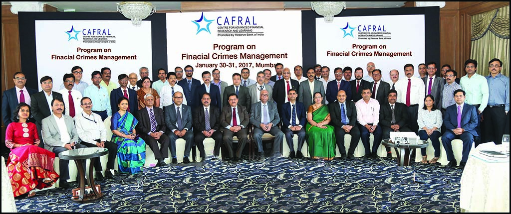 Photos from the CAFRAL Program on Financial Crimes Management