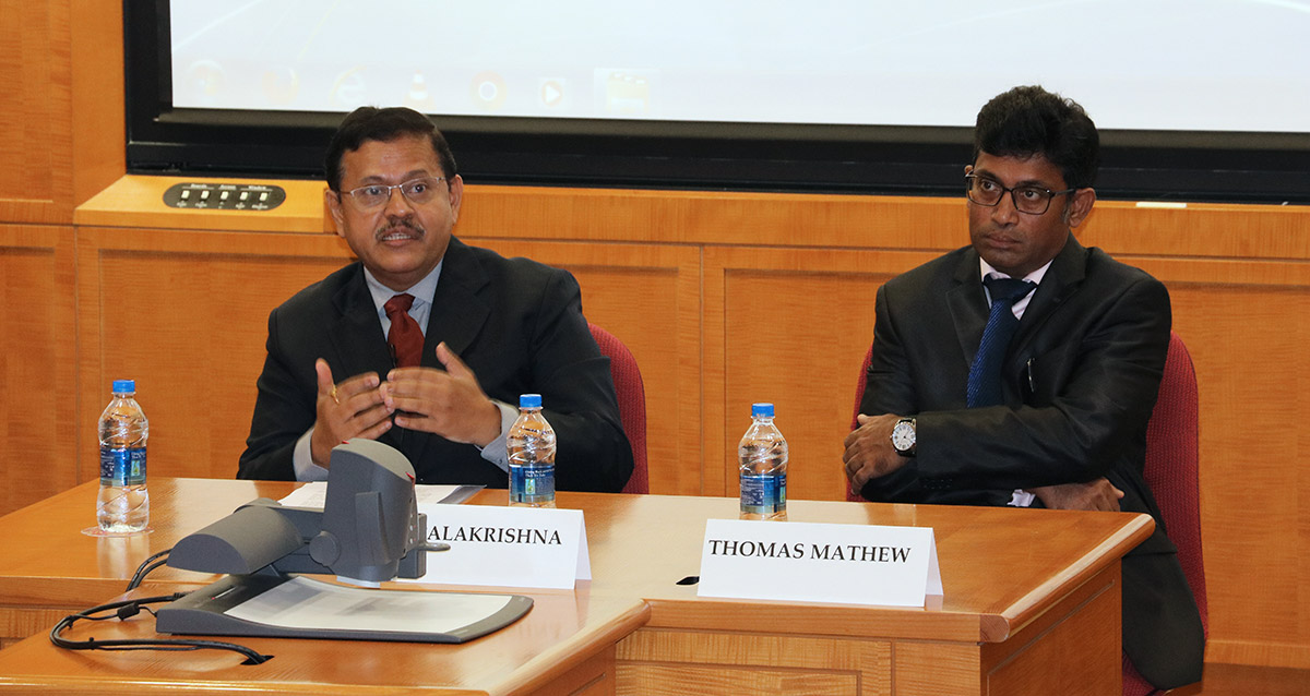 G Gopalakrishna and Thomas Mathew
