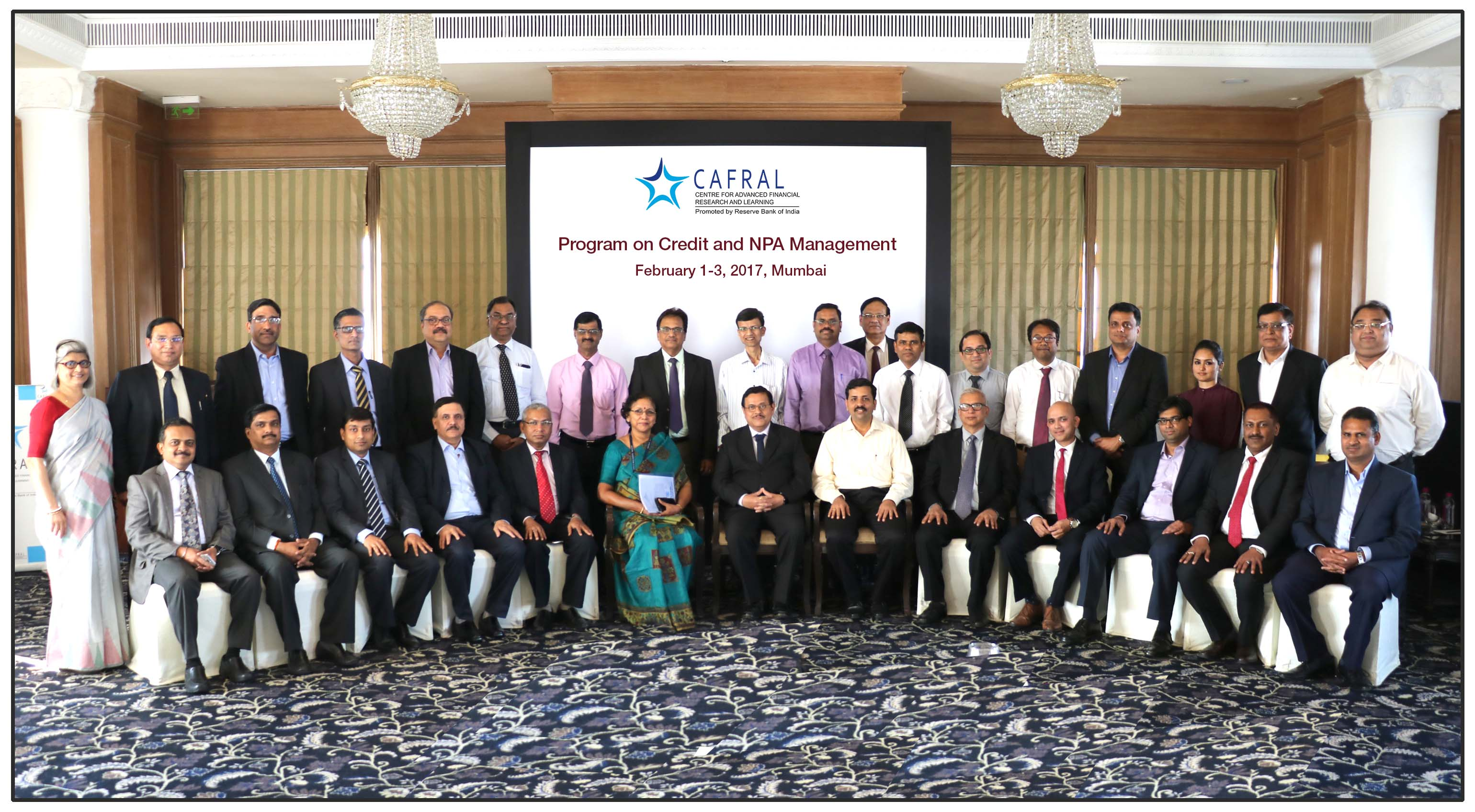 Photos from the CAFRAL Program on Credit and NPA Management 2017