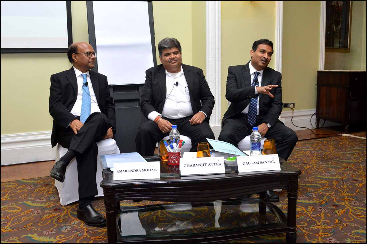 L:R - Amarendra Mohan, Sr. Program Director, CAFRAL, Charanjit Attra, Partner, EY and Gautam Sanyal, General Manager, Risk Management, ICICI Bank
