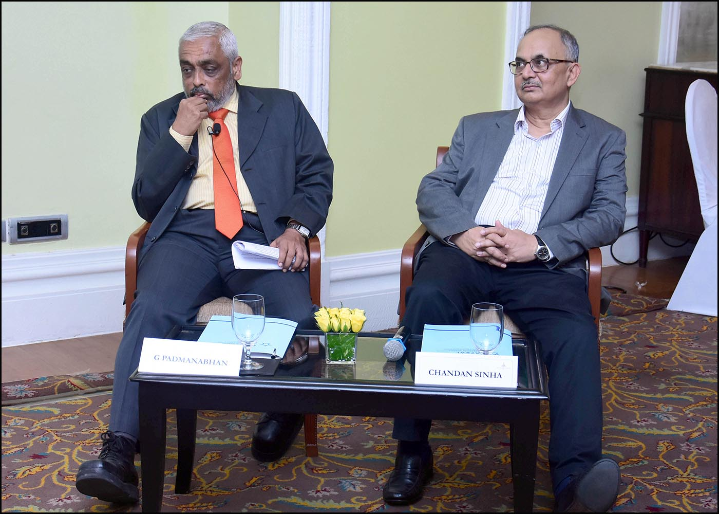 L:R G Padmanabhan and Chandan Sinha, Addl Director, CAFRAL