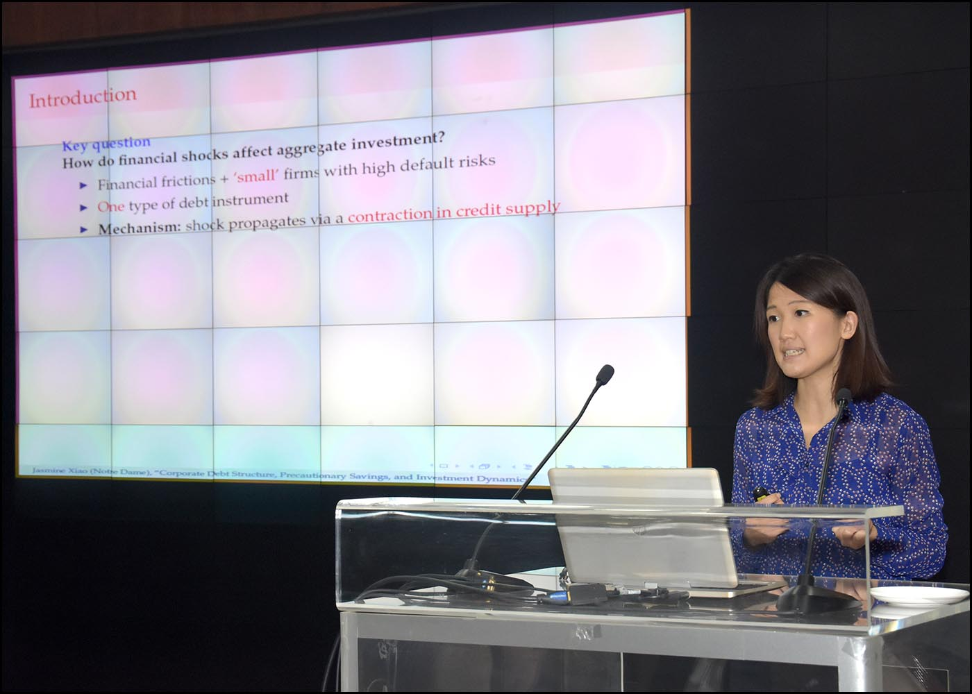 Dr. Jasmine Xiao, Asst. Prof. - University of Notredame, USA