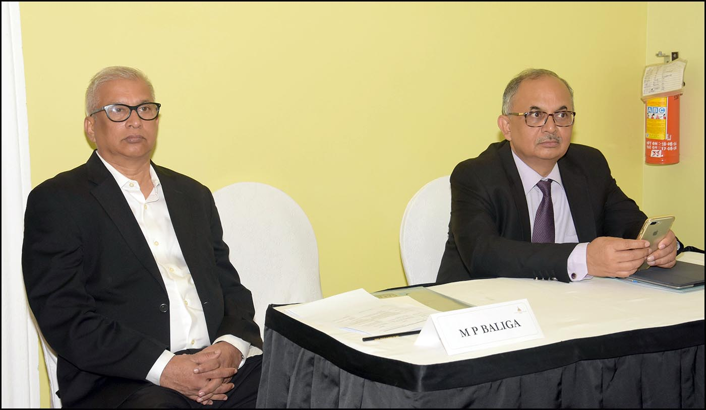 L-R: M P Baliga, Sr. Program Director and Chandan Sinha, Additional Director, CAFRAL