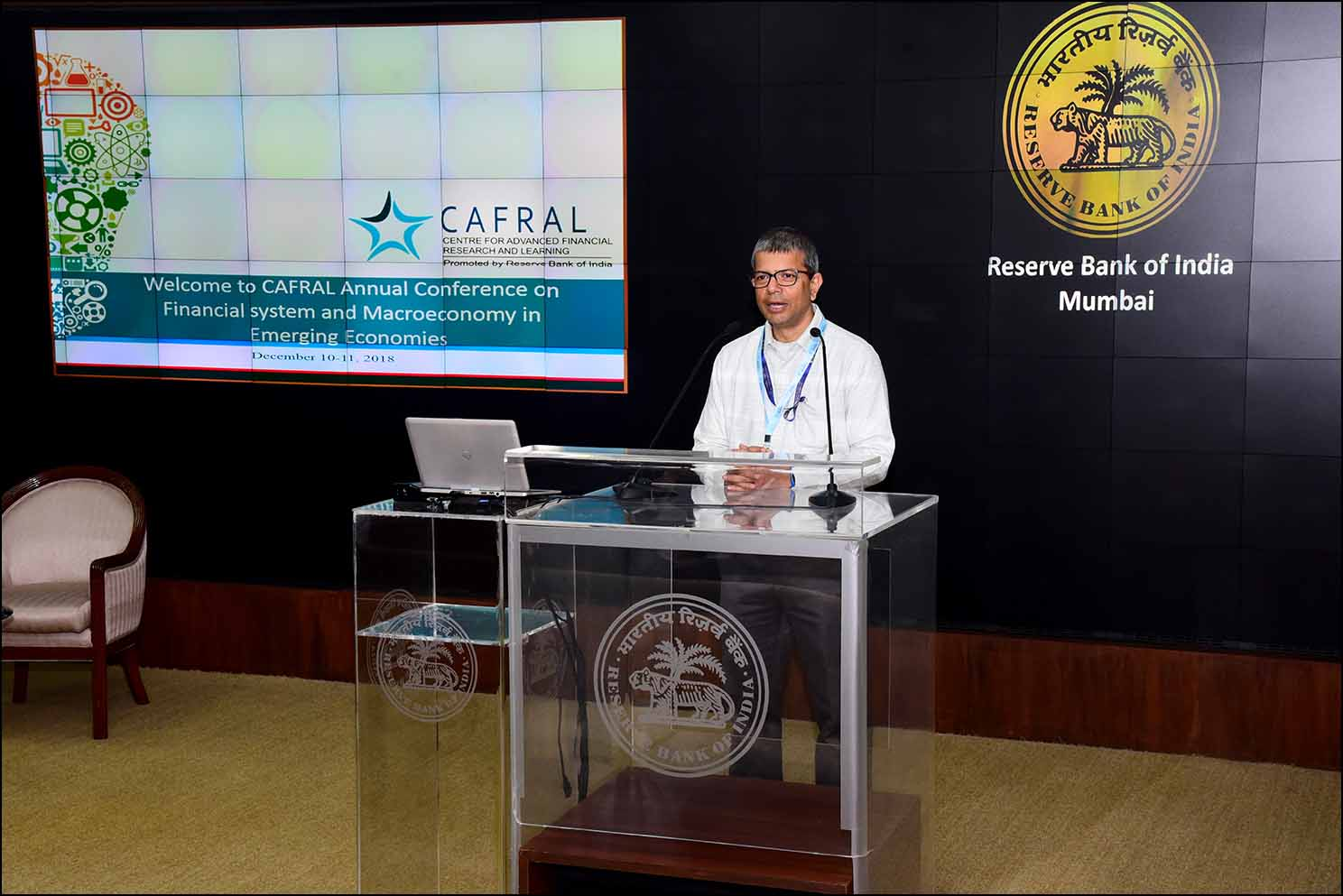 Photos from the CAFRAL conference on Financial system and Macroeconomy in Emerging Economies